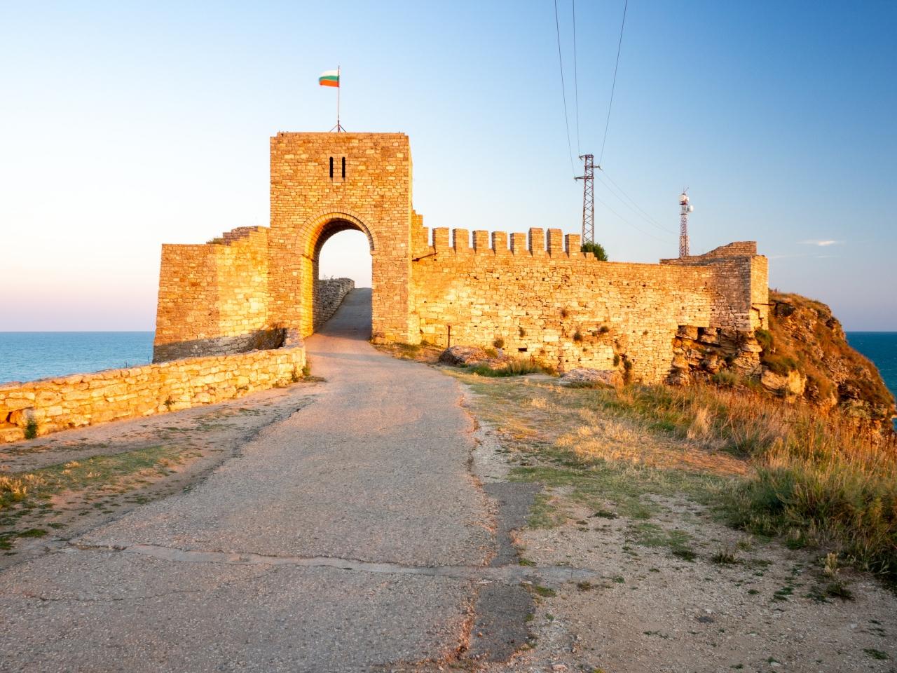 A medieval fortress in Kaliarkra Bulgaria